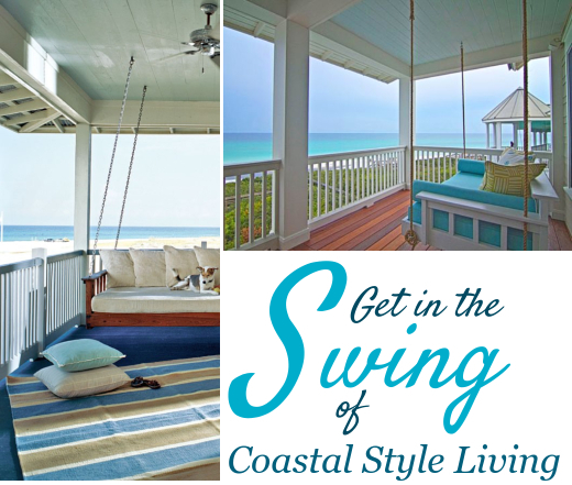 Coastal Home Porch Swing Ideas