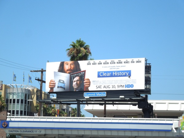 Clear History HBO billboard