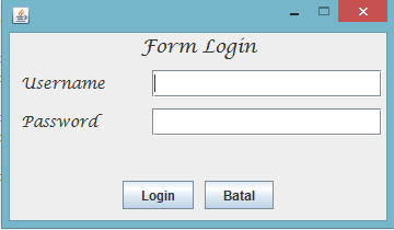 form login java netbeans