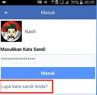Cara Mengembalikan Kata Sandi Facebook Yang Lupa