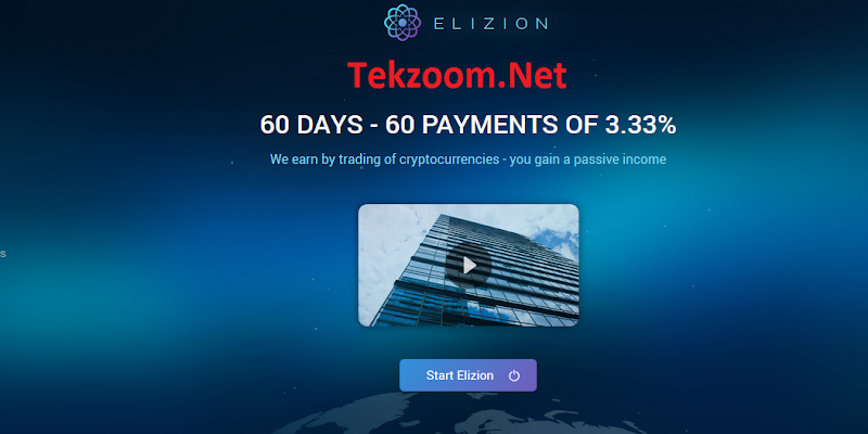 [SCAM] Review Elizion - Bot Telegram - Lãi 3.33% hằng ngày cho 60 ngày - Đầu tư tối thiểu 10$ - Thanh toán tự động