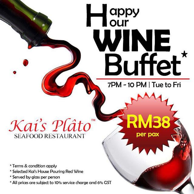 Kai's Plato Wine Buffet Promotion