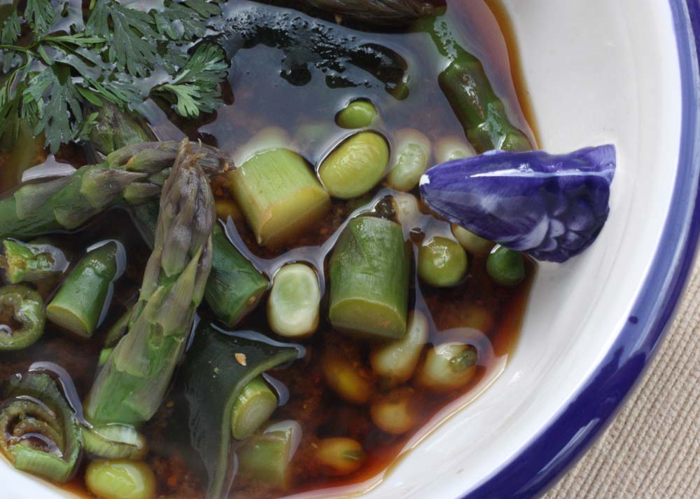... : Miso Bowl with Sea Vegetables, Asparagus, Edamame and Soya Beans