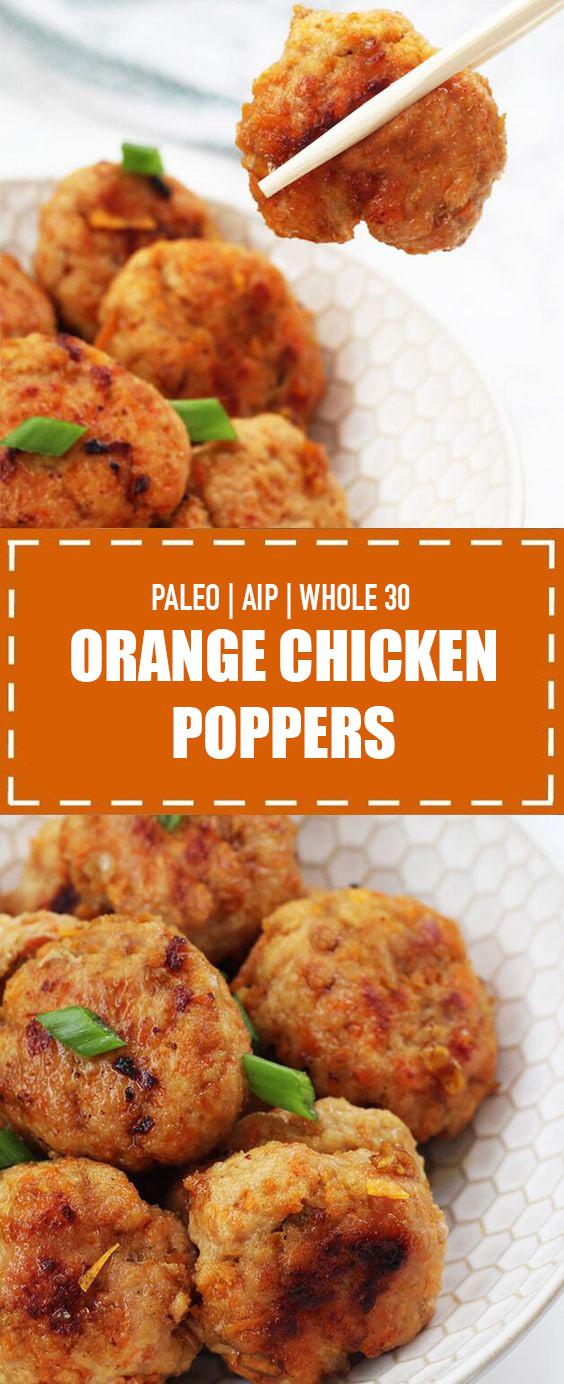 Orange Chicken Poppers