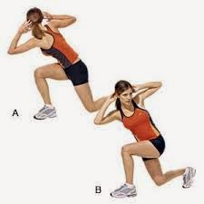 walking lunges with twist image