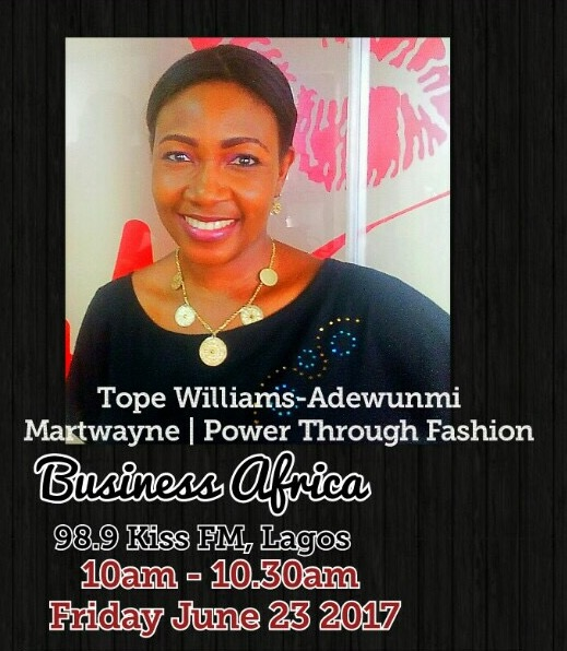 Invest in Yourself !  Martwayne on Business Africa, 98.9 Kiss FM Lagos – 23 June 2017
