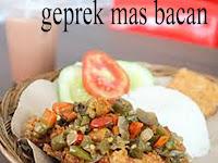 Resep ayam geprek mas bacan