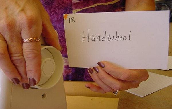 Hand wheel sewing machine