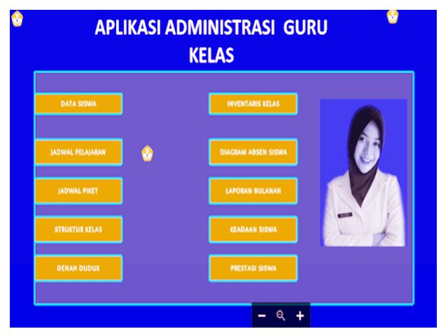 Aplikasi Pembuatan Administrasi Guru Kelas Lengkap Format