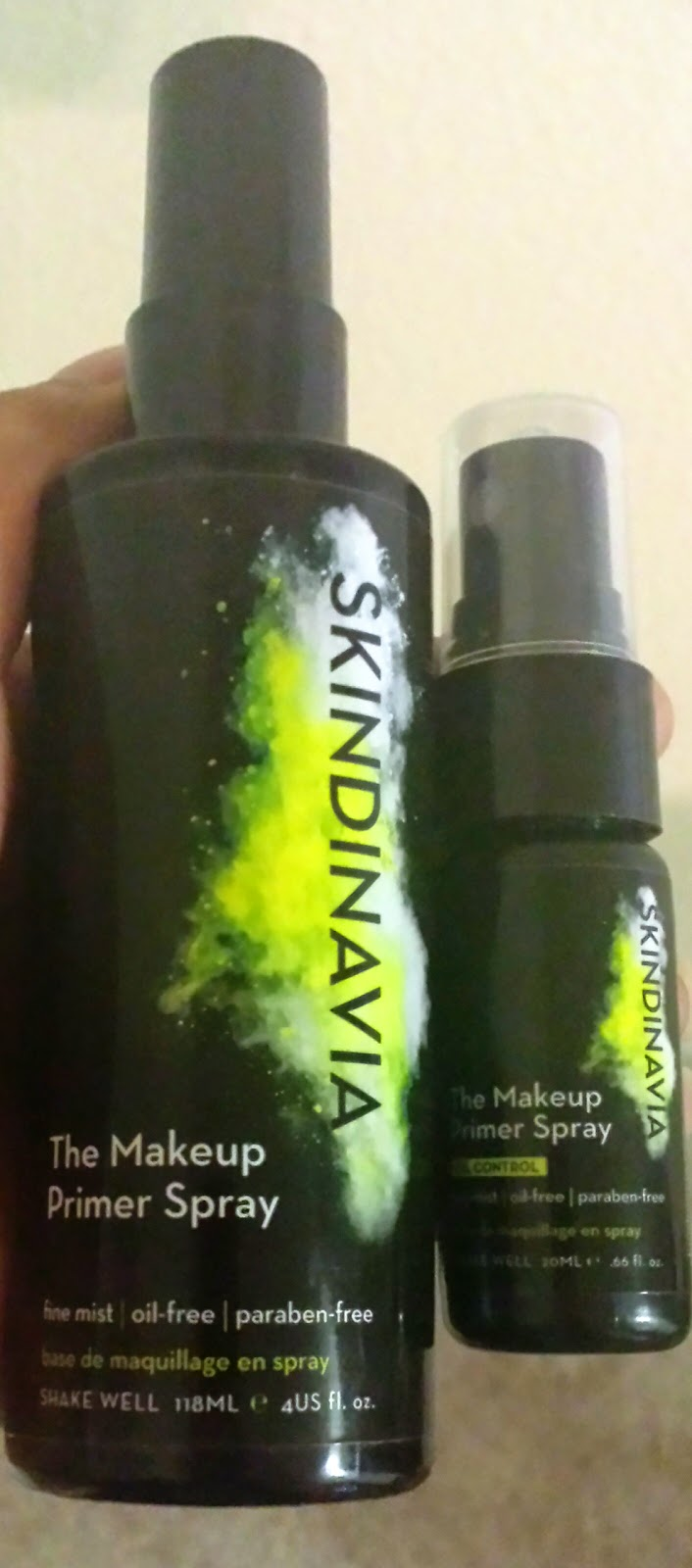 SKINDINAVIA's The Makeup Primer Spray and The Makeup Primer Spray Oil-Control Review and Giveaway Ends May 30th via ProductReviewMom.com