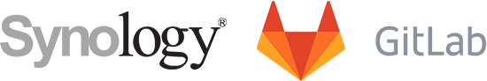 Synology and GitLab logos