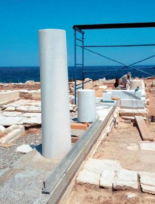 Αναστήλωση στον αρχαίο ναό του Δεσποτικού