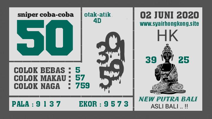 Prediksi Syair HK 2 Juni 2020