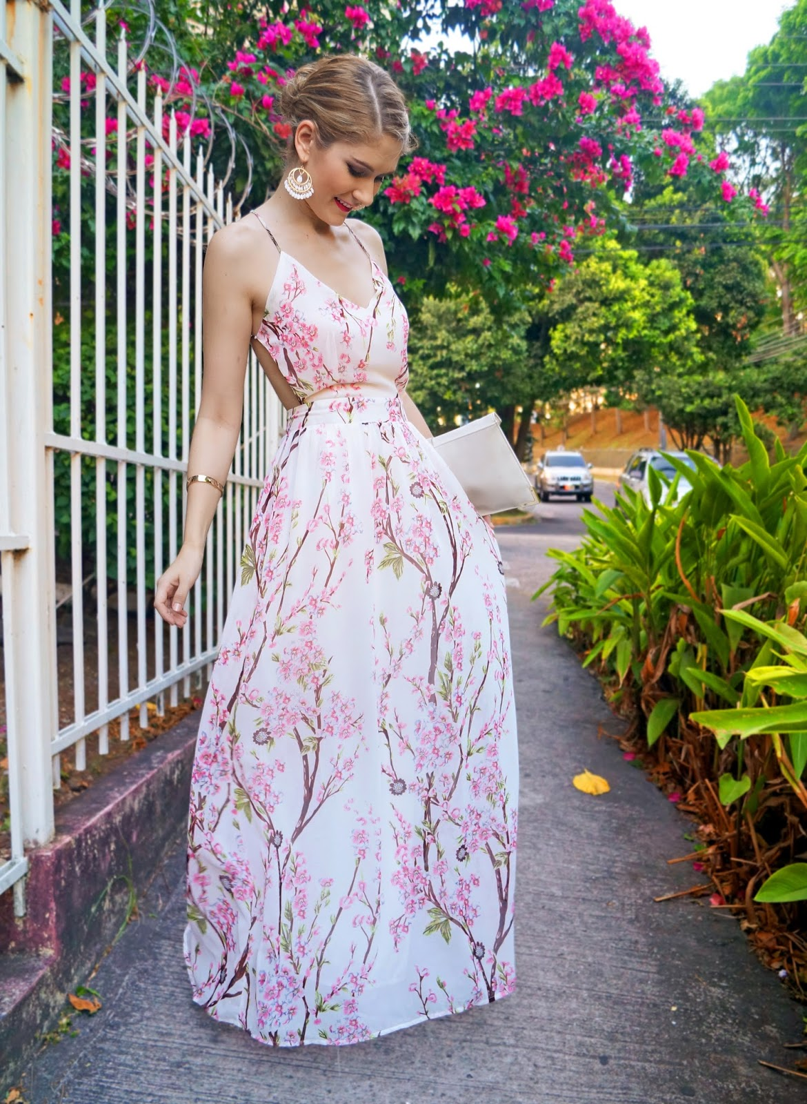 Cherry Blossom Maxi Dress from Sheinside.com... less than $21!