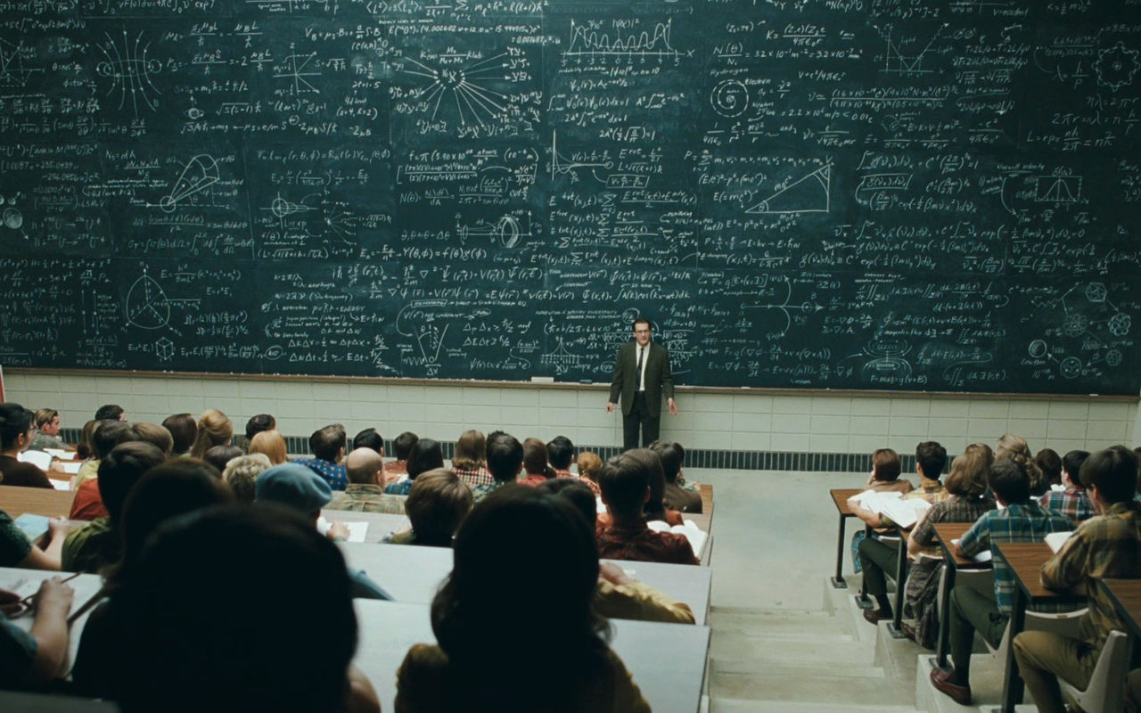 ecuaciones en encerados enormes