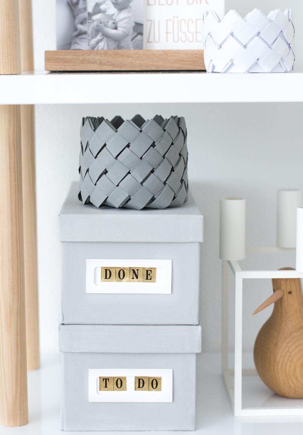 DIY Korb aus Papier