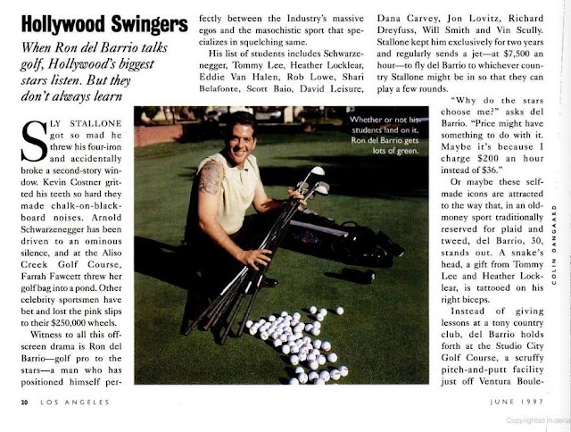 ron del barrio golf career 1997 magazine article