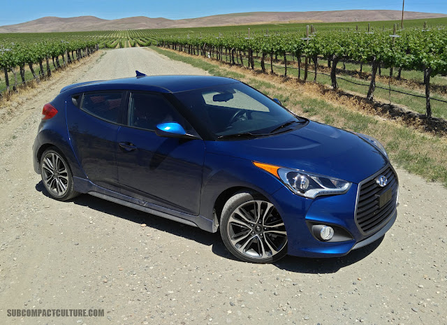 2016 Hyundai Veloster Turbo R Spec in a vineyard