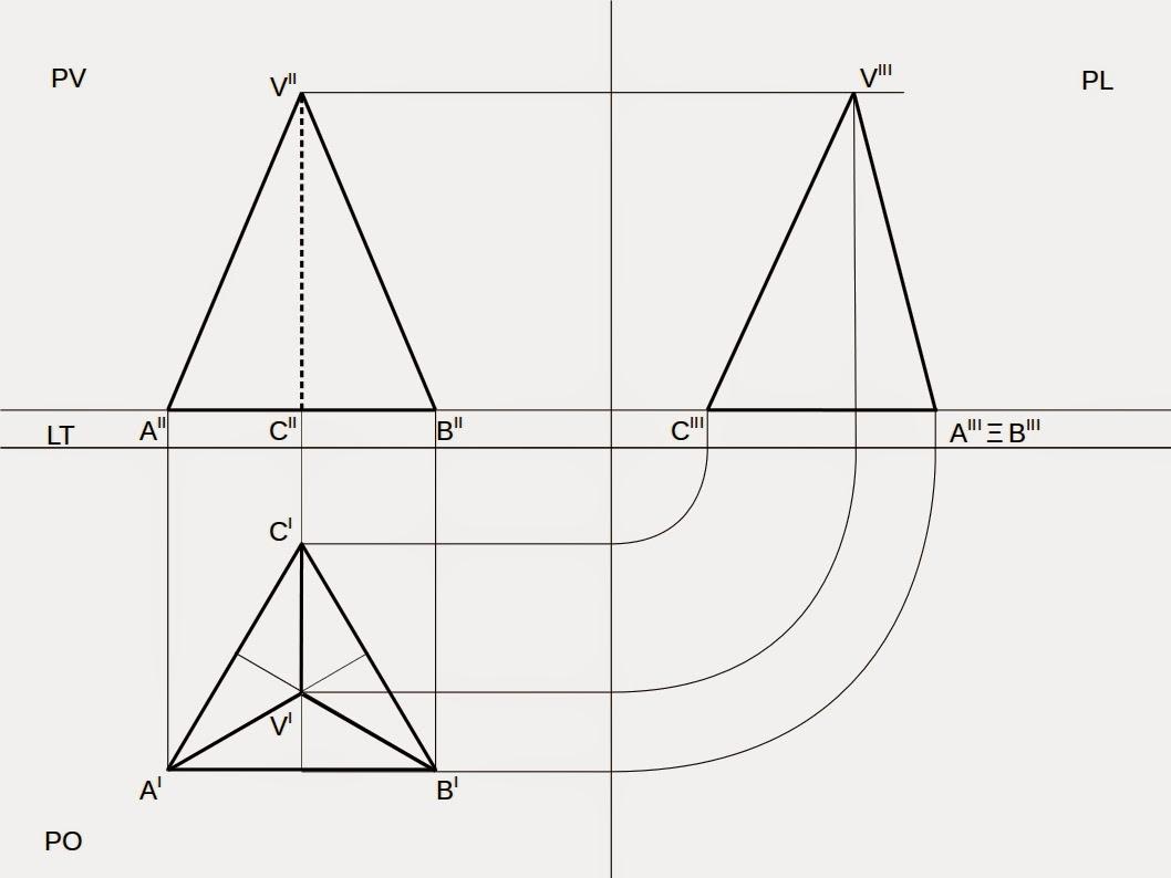 La Mia Tecnica Proiezioni Ortogonali Di Una Piramide Con Base Un