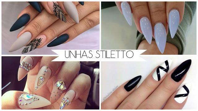 Dicas de Unhas stiletto