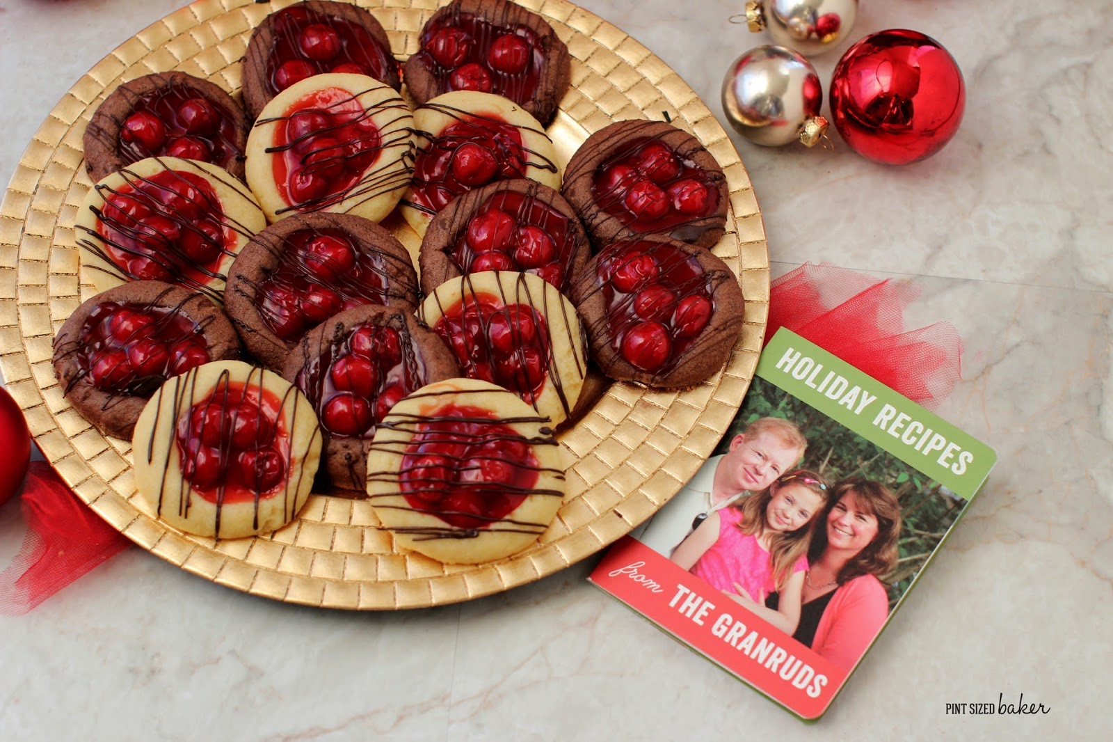 Enjoy the flavor of a cherry pie in these fun and easy Cherry Pie Thumbprint Cookies! You can also fill them with apple or blueberry to bake your favorite.