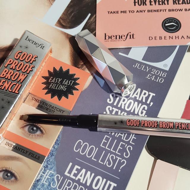 The Benefit Brow Freebie | Elle Magazine July 2016