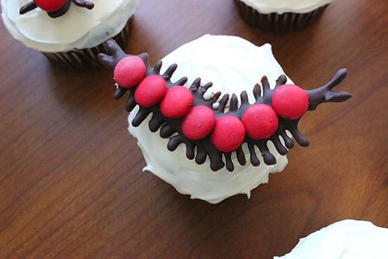 Centipede M&M Chocolate Cupcake Topper