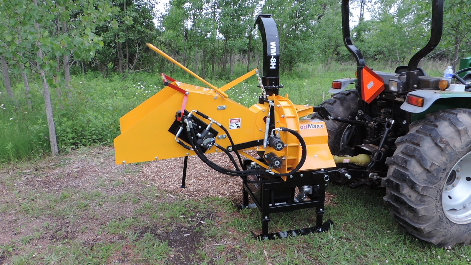 WoodMaxx WM-8H PTO Wood Chipper: Set-Up Instructions for the