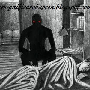 Hombre vestido de negro en los suenos