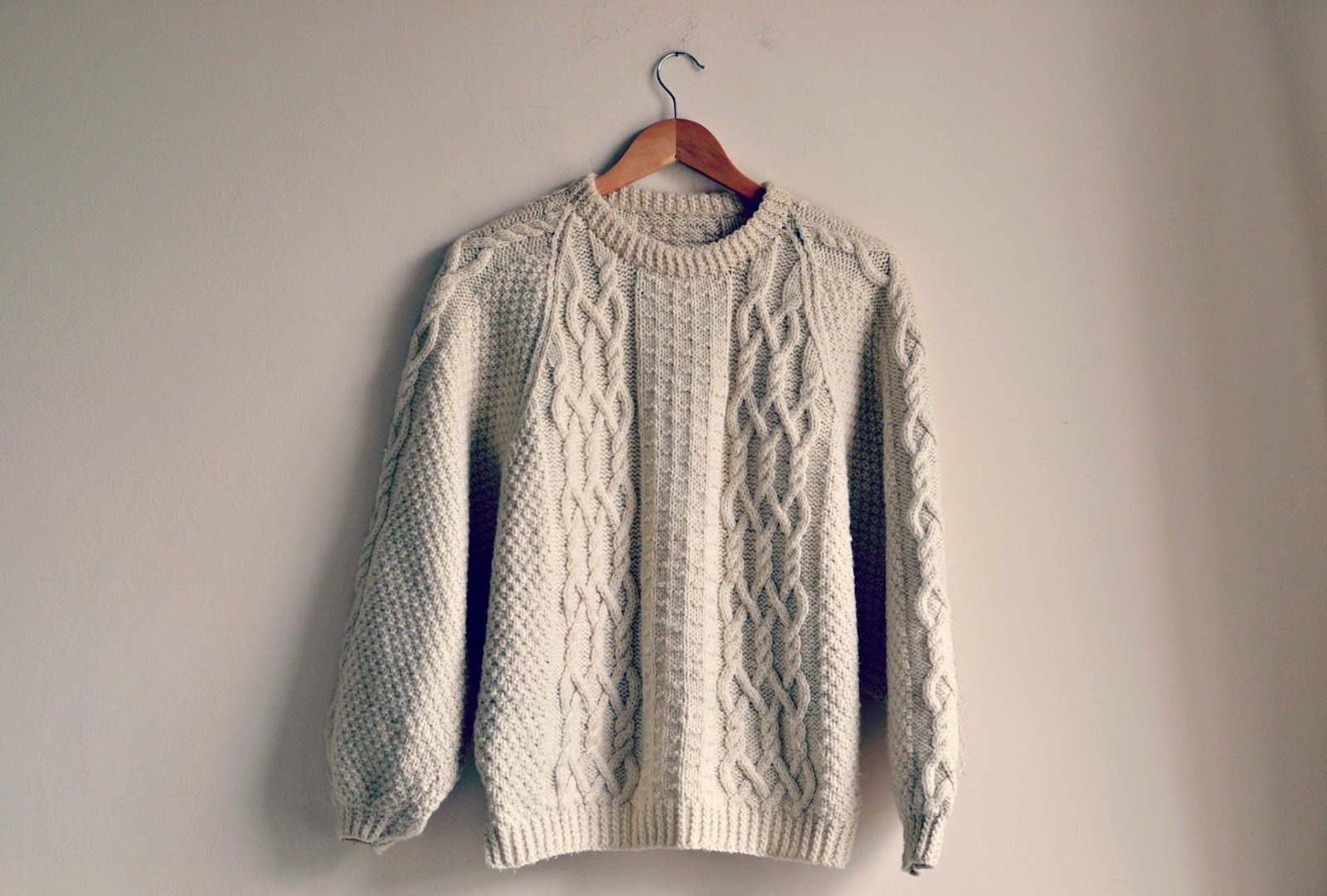 vintage cable knit jumper