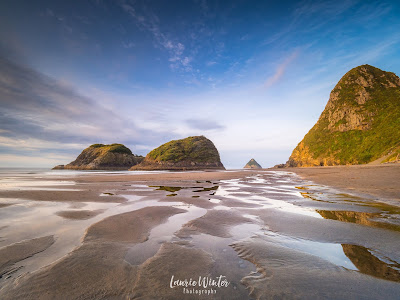 New Zealand, NZ, Taranaki, Mt Taranaki, New Plymouth, Back Beach, Sunset