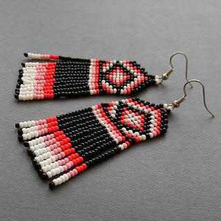 купить необычные серьги с бахромой бисерные украшения ручной работы цена