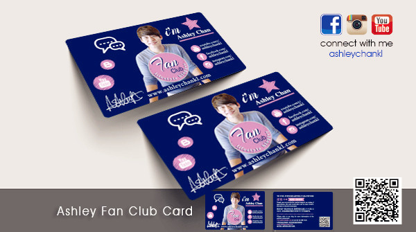 Ashley Fan Club Card