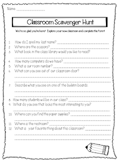 https://www.teacherspayteachers.com/Product/Back-to-School-Classroom-Scavenger-Hunt-813845