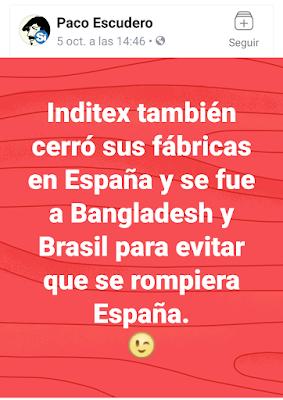 Paco Escudero, inditex, fábricas en España, Bangladesh, Brasil, evitar que se rompiera España