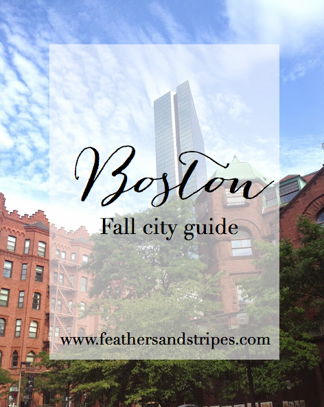 Boston City Guide Feathers And Stripes