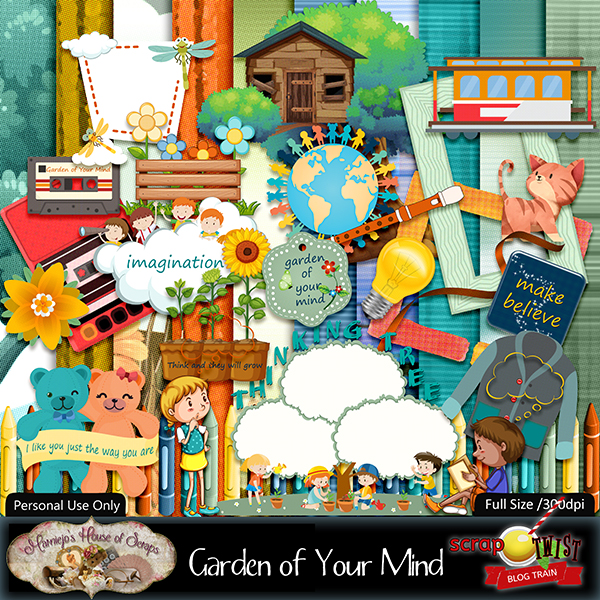 "August Scrap Twist Blogtrain - ""Garden of Your Mind"""