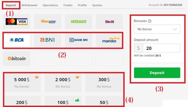 cara deposit olymp trade menggunakan mandiri online