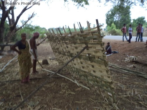 Murthy's Photo Blog: In making of Bamboo fencing