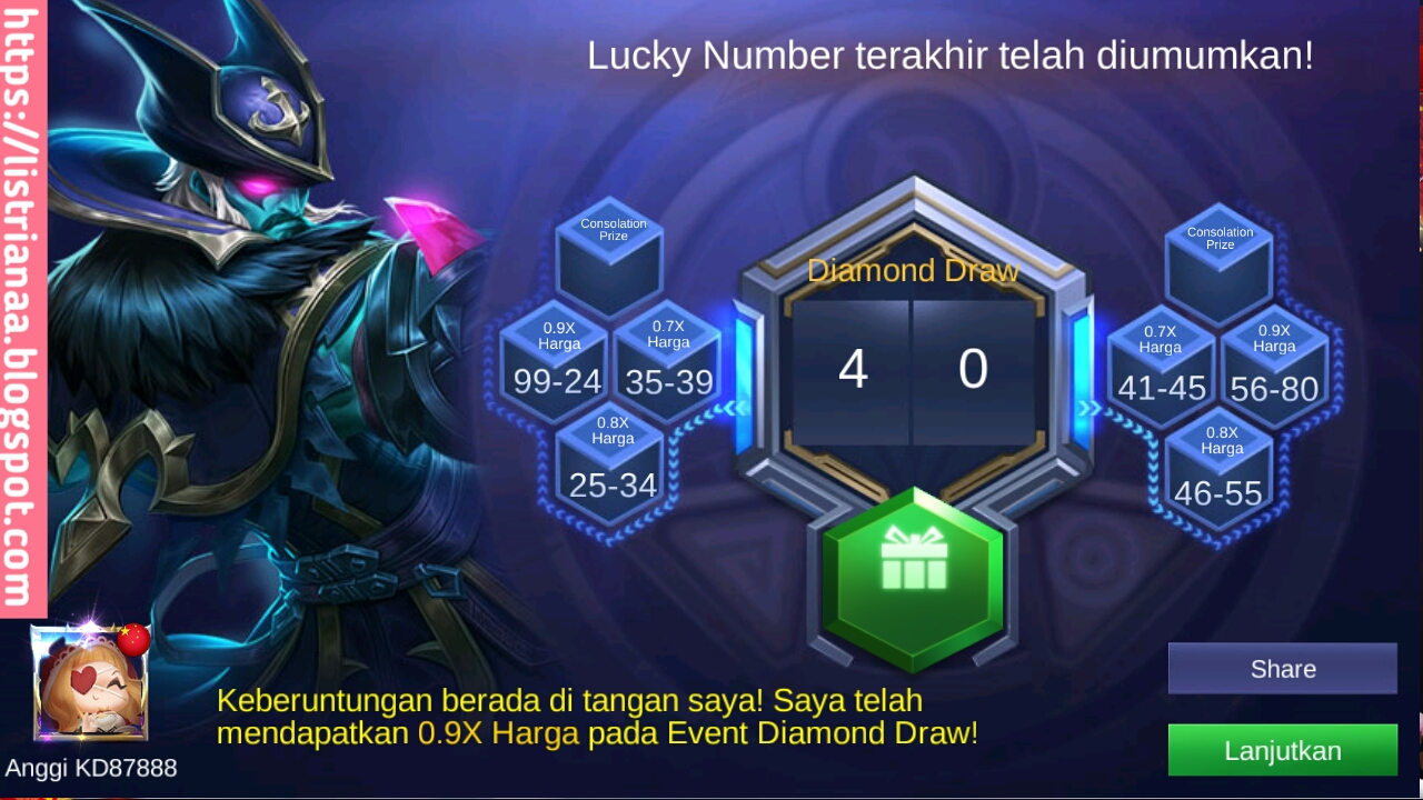 Tutorial Mendapatkan Diamond Gratis di Event Diamond Draw Mobile Legends 5