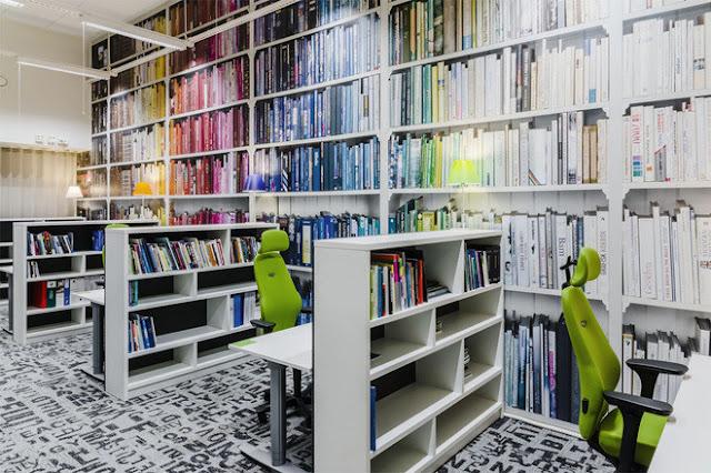 Thiết kế phòng đọc sách trong những công ty lớn