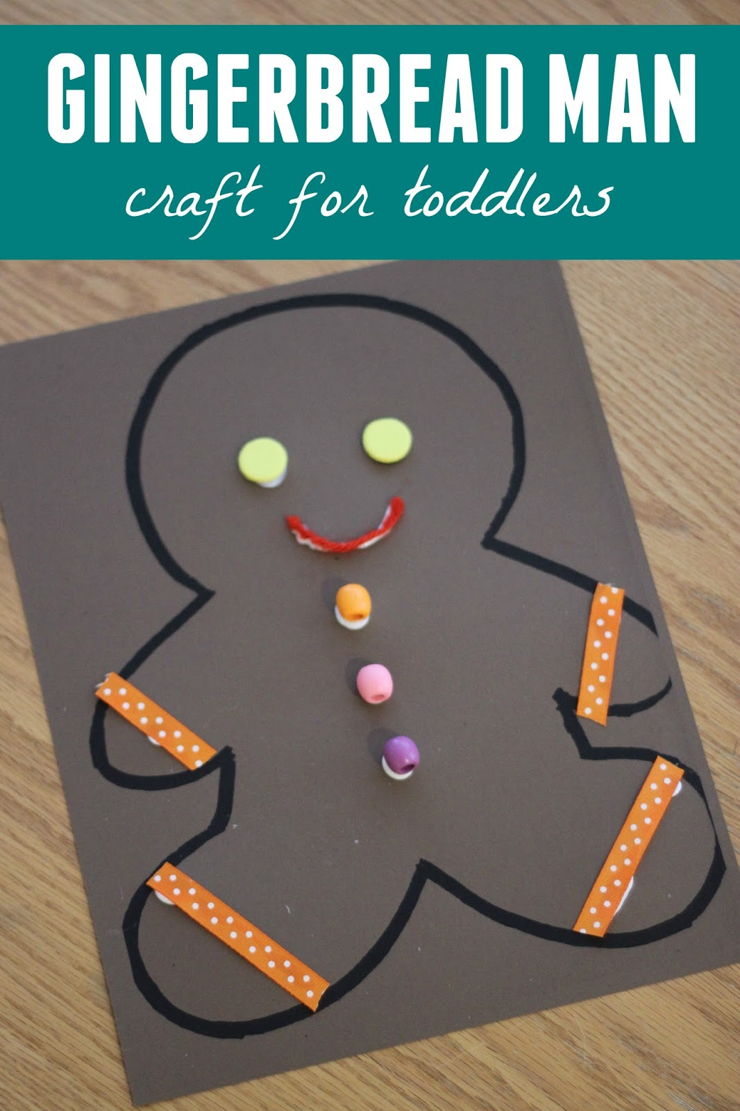man craft ideas toddler approved gingerbread collage craft 2373