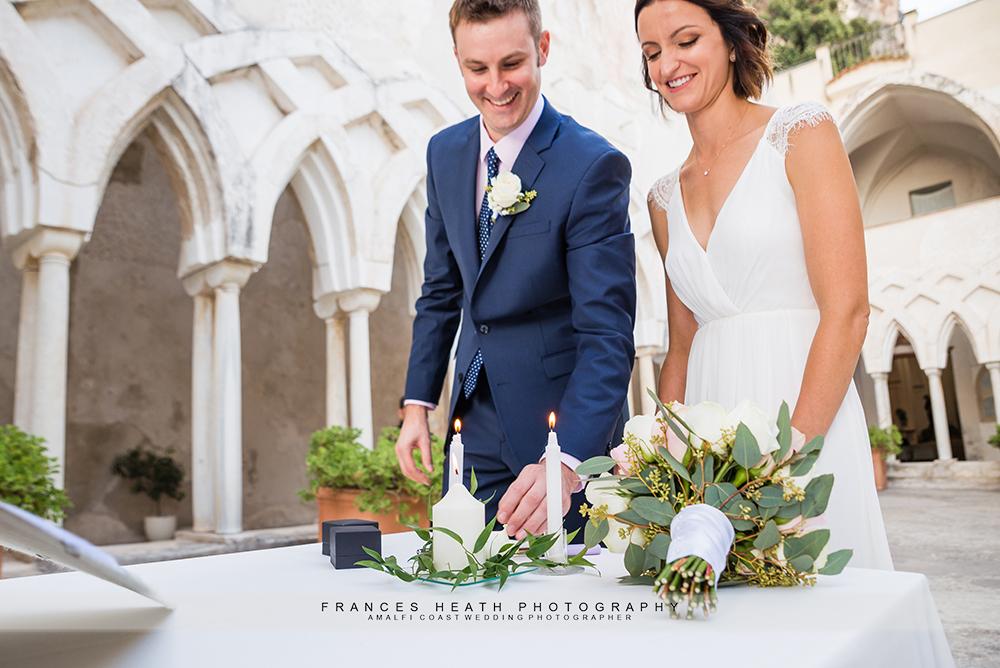 Lighting wedding candle