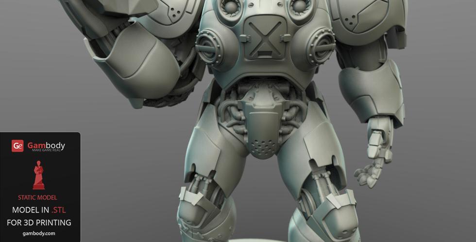 Terran Marine Action Figure 3D design