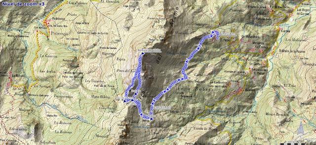 Mapa ruta Mostayal desde La Vara