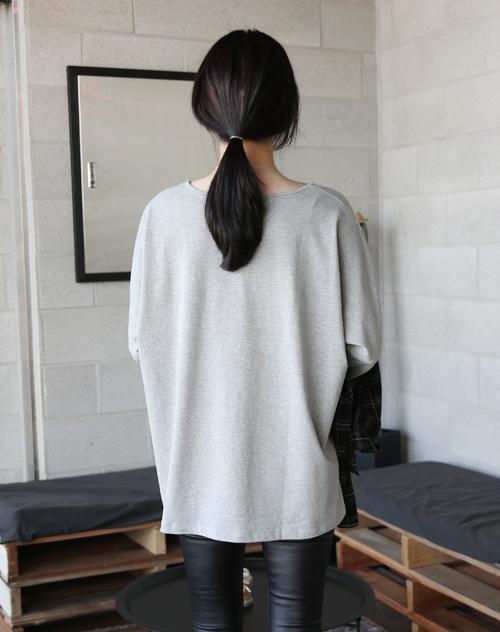 Side Slit Extended Sleeve T-Shirt