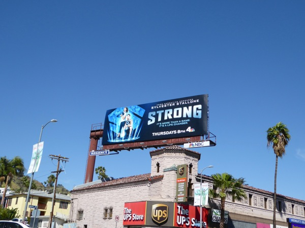 Strong TV series billboard