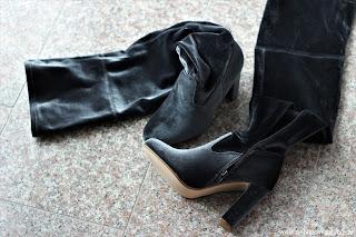 Fashion: 3 MUST HAVE Stiefel für diesen Herbst! - Tibbie Heeled Boot - Samtig Grau- www.annitschklasblog.de