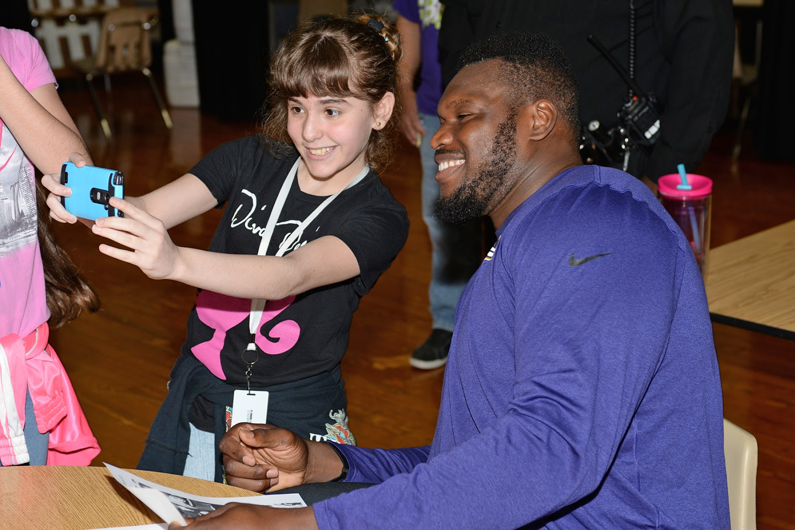 Connection for Employees NFL player Kelechi Osemele visits Truitt MS