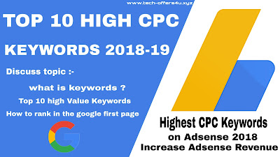 Highest CPC Keywords on Adsense 2018 Increase Adsense Revenue